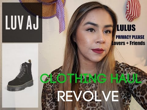 NEW FASHION HAUL...REVOLVE...PRIVACY PLEASE..LOVERS AND FRIENDS