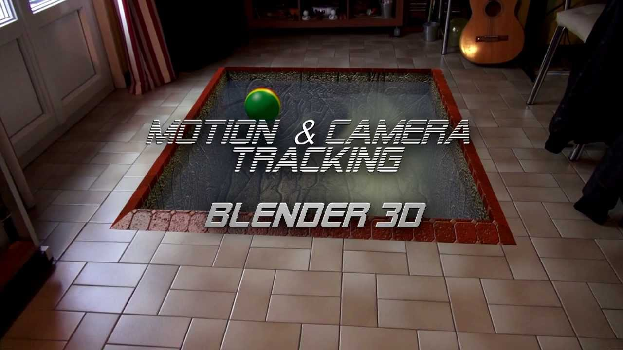 BLENDER Camera Motion Tracking sample 1 Bump map textures Wave – Tracking Sample