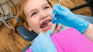 BRAVE DENTiST VISIT!!  Adley has a tooth check up at our clinic and gets her vampire teeth cleaned!