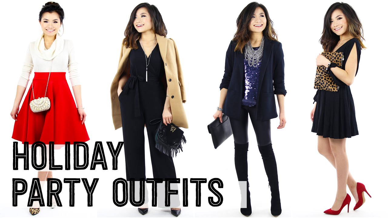 2015 holiday christmas party outfit ideas lookbook casual winter going out fashion miss louie youtube