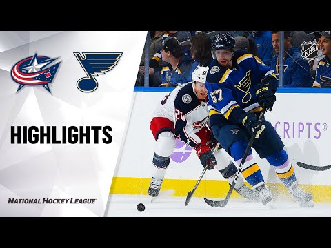 NHL Highlights | Blue Jackets @ Blues 11/01/19