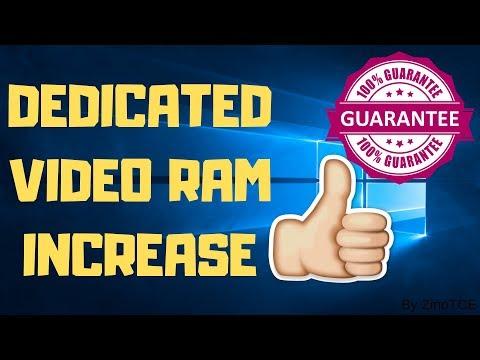 Dedicated Video Ram Increase   ( VRAM of laptop and PC in Windows 10)