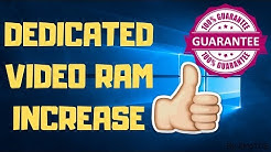 Dedicated Video Ram Increase | ( VRAM of laptop and PC in Windows 10)