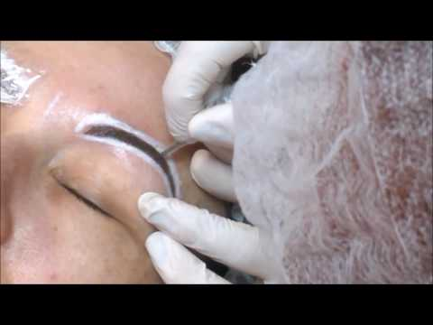 Татуаж бровей , как делается волосковый метод, микроблейдинг или растушевка 6D  HD