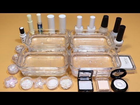 *WHITE Collection* # Mixing Lip section,glitter Section and Nail section, Shadow Section into Slime
