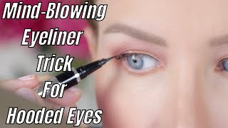 GAME CHANGING WINGED EYEĻINER TRICK FOR HOODED OR AGING EYES (New Technique From A Pro MUA)