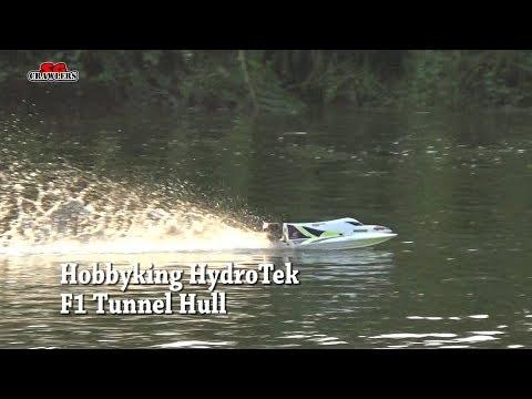 HobbyKing Marine Hydrotek F1 Tunnel Hull Racing Boat in action
