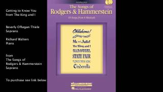 Watch Oscar Hammerstein Getting To Know You video