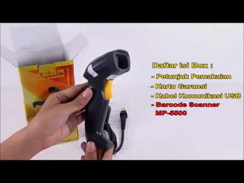 Unboxing MINIPOS MP 5500 Laser Barcode Scanner Gold