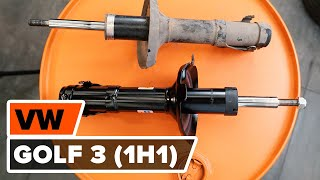 Watch the video guide on VW GOLF Shock Absorber replacement