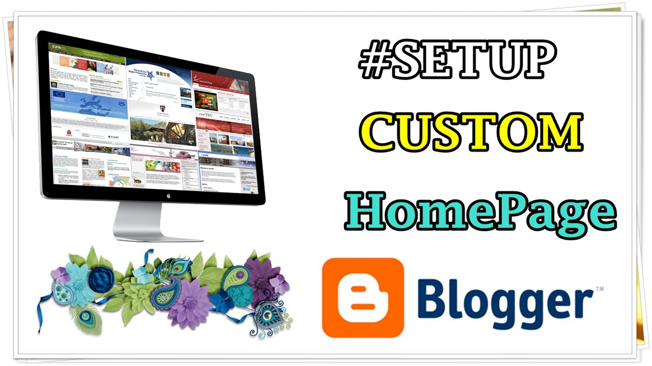 How To Add A Custom Homepage In Blogger 2014 YouTube