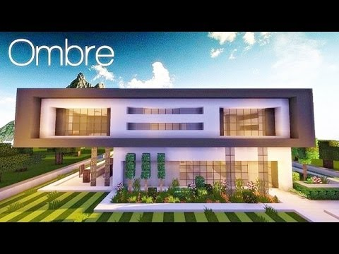 Minecraft maison moderne by xroach youtube for Photo maison contemporaine