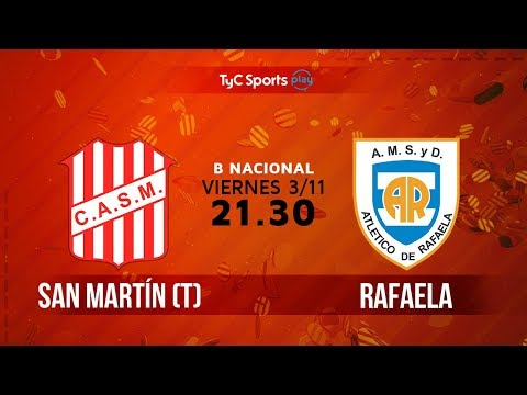 Primera B Nacional: San Martín (T) vs. Atlético de Rafaela   #BNacionalenTyC