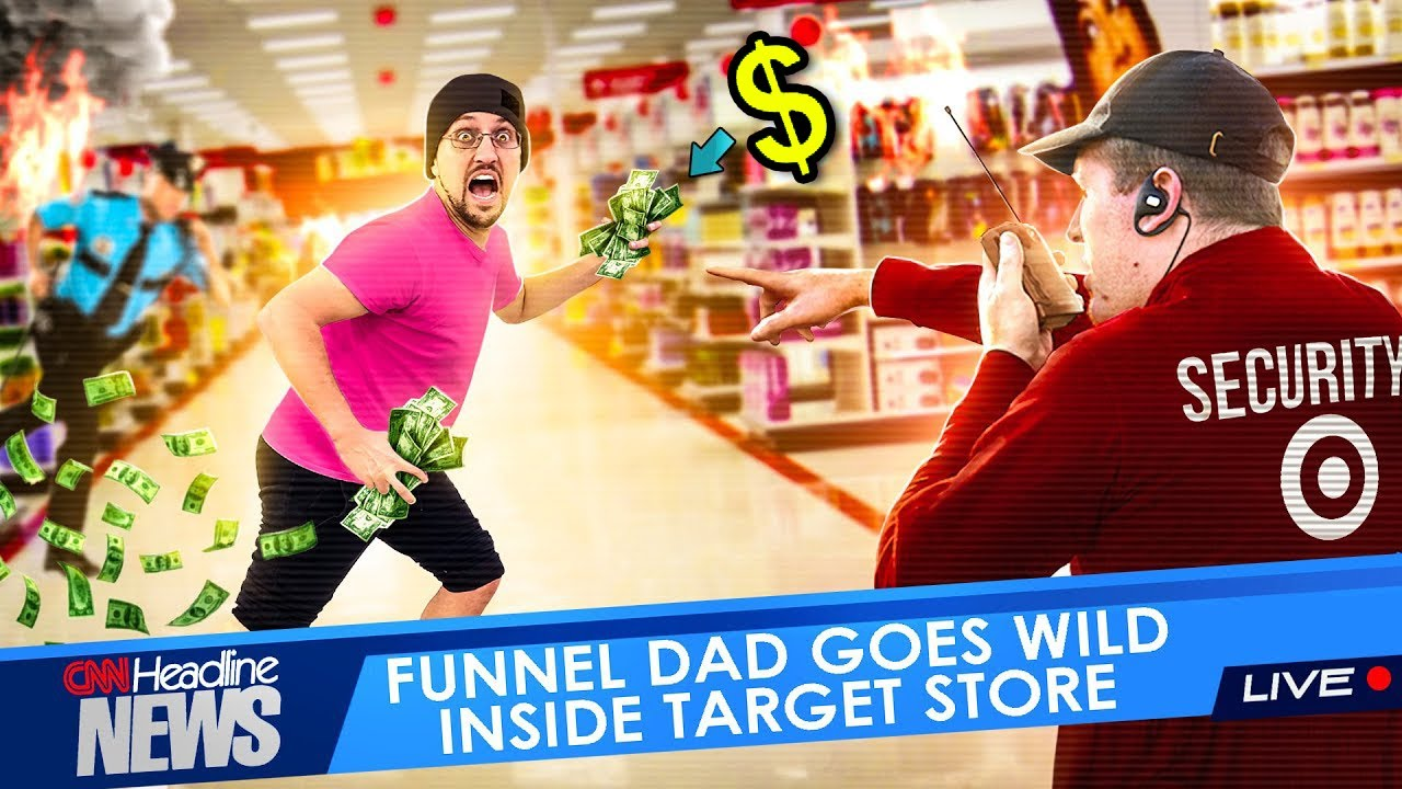 ACTING SUS in TARGET & GIVING MONEY AWAY!  Don't Get Caught! 💰 (FV FAMILY Vlog)