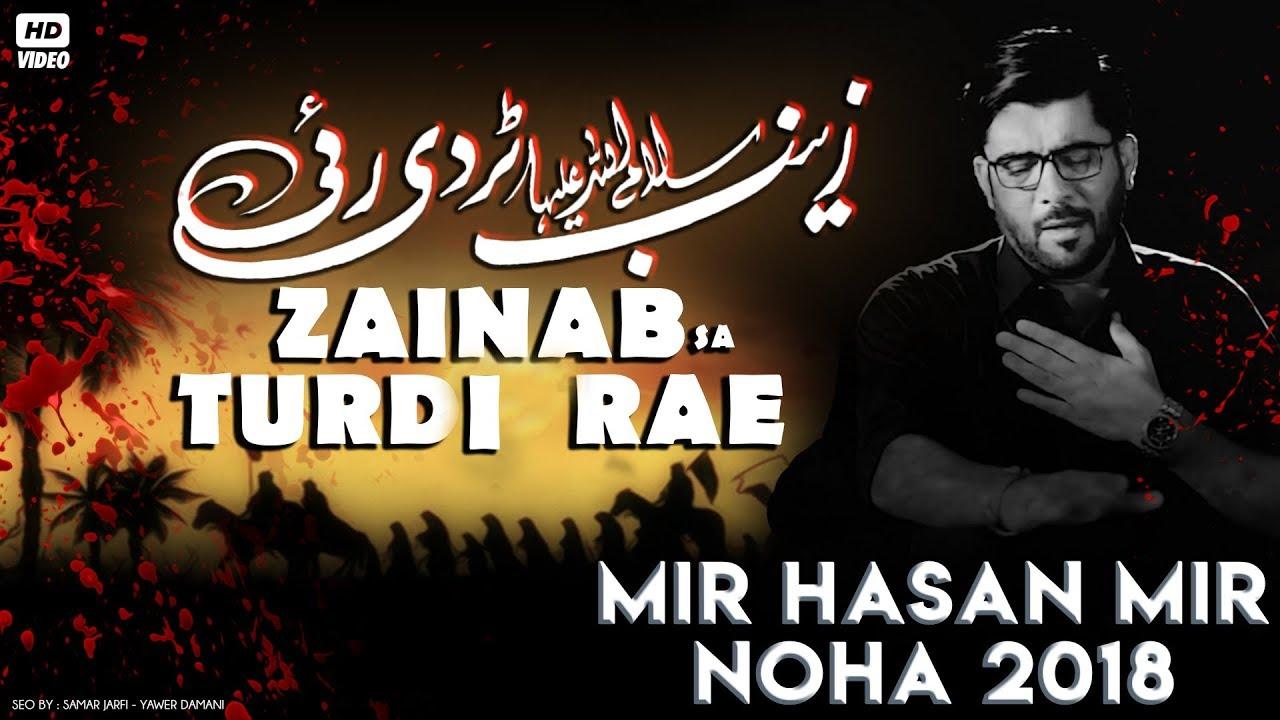 Nohay 2018 | Zainab س Turdi Rae | Mir Hasan Mir 2018-19 | Nohay 2019 | Noha  Bibi Zainab | Haye Shaam