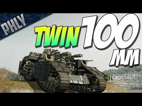 Crossout - TWIN 100MM TANK - BEST VEHICLES IN THE GAME - (Crossout Leviathan Gameplay)
