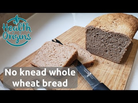 No Knead Whole Wheat Bread (quick And Only 5 Ingredients)
