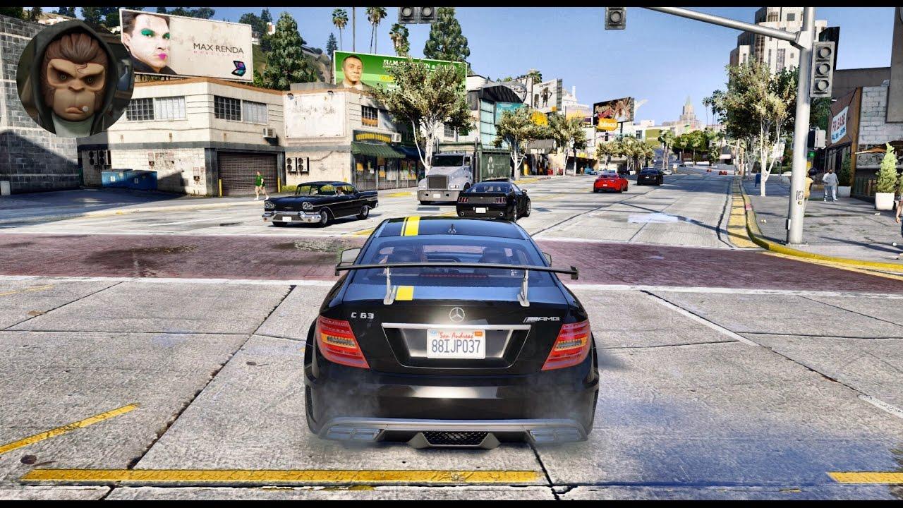 Mercedes C63 Amg 0 60 >> GTA 6 Graphics - NaturalVision 2.0 - C63 AMG Coupe! Realistic Graphic MOD PC - 1080p 60 FPS ...