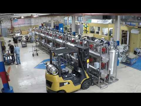 Timelapse: Manufacturing Process Of An Automated 6-Skid Thompson FIltration System