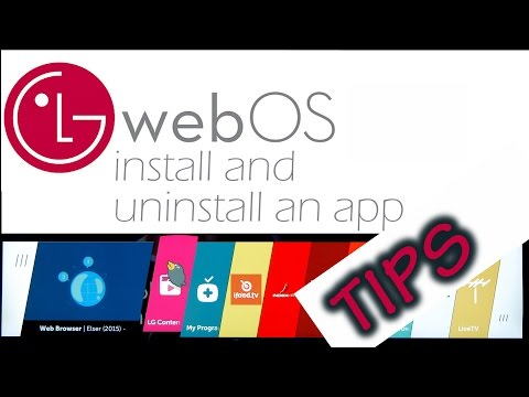 WebOS  How to  install and uninstall an app