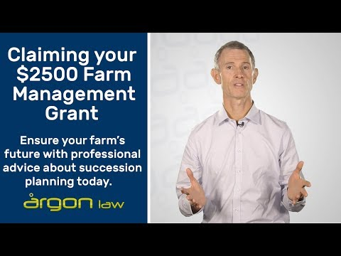 Farm Management Grant - What you can claim.  | Legal Advice from a Sunshine Coast Lawyer | Argon Law