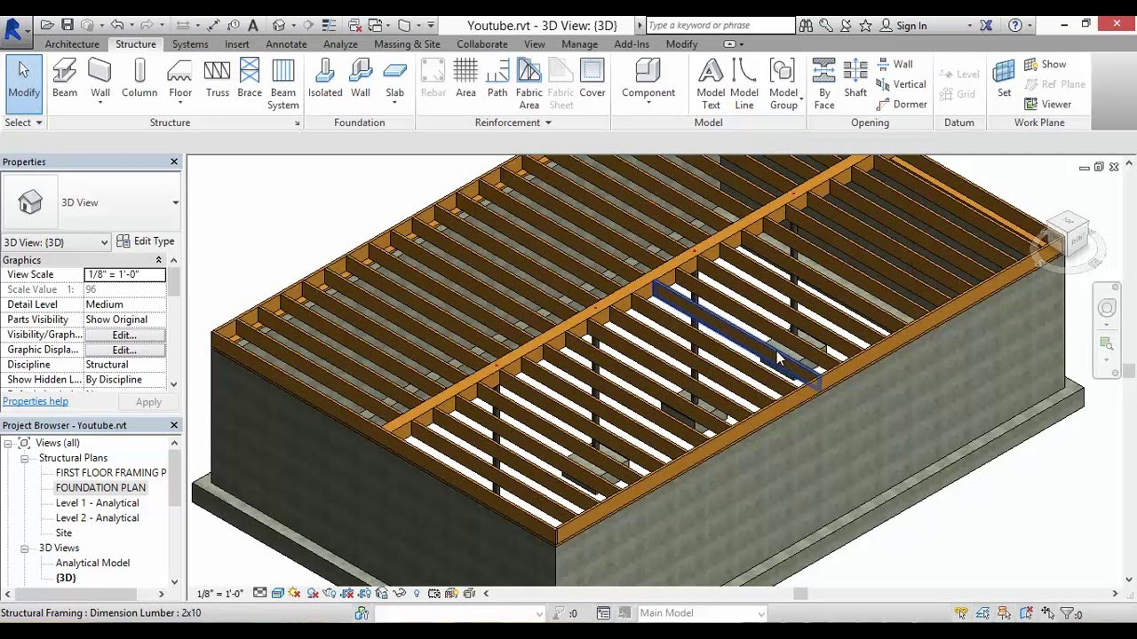 Autodesk Revit Joist Girder Lally Columns And Footings