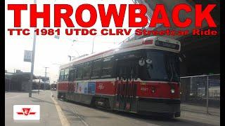 THROWBACK: TTC 1981 UTDC CLRV Streetcar Ride (510 Spadina)