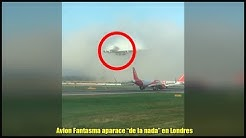 Un Enorme Avion Fantasma Aparece de la Nada en Gatwick, Londres
