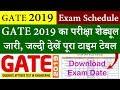GATE 2019 Exam Schedule    GATE 2019 Exam Date, Syllabus, Admit Card, Result