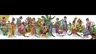 12 красавиц японки вышивка крестом