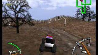monster truck madness 64 gameplay rec with fraps