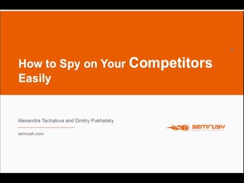 Webinar How to spy on your competitors easily