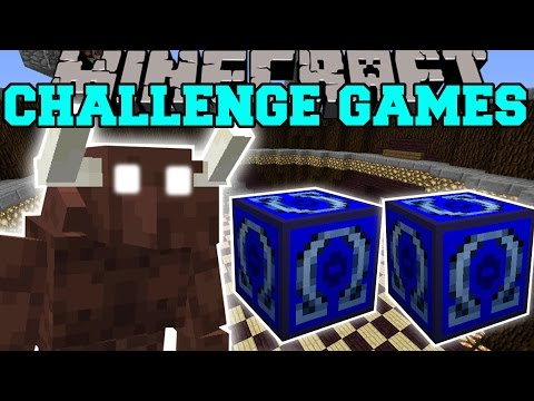 Minecraft: MINOTAUR CHALLENGE GAMES - Lucky Block Mod - Modded Mini-Game