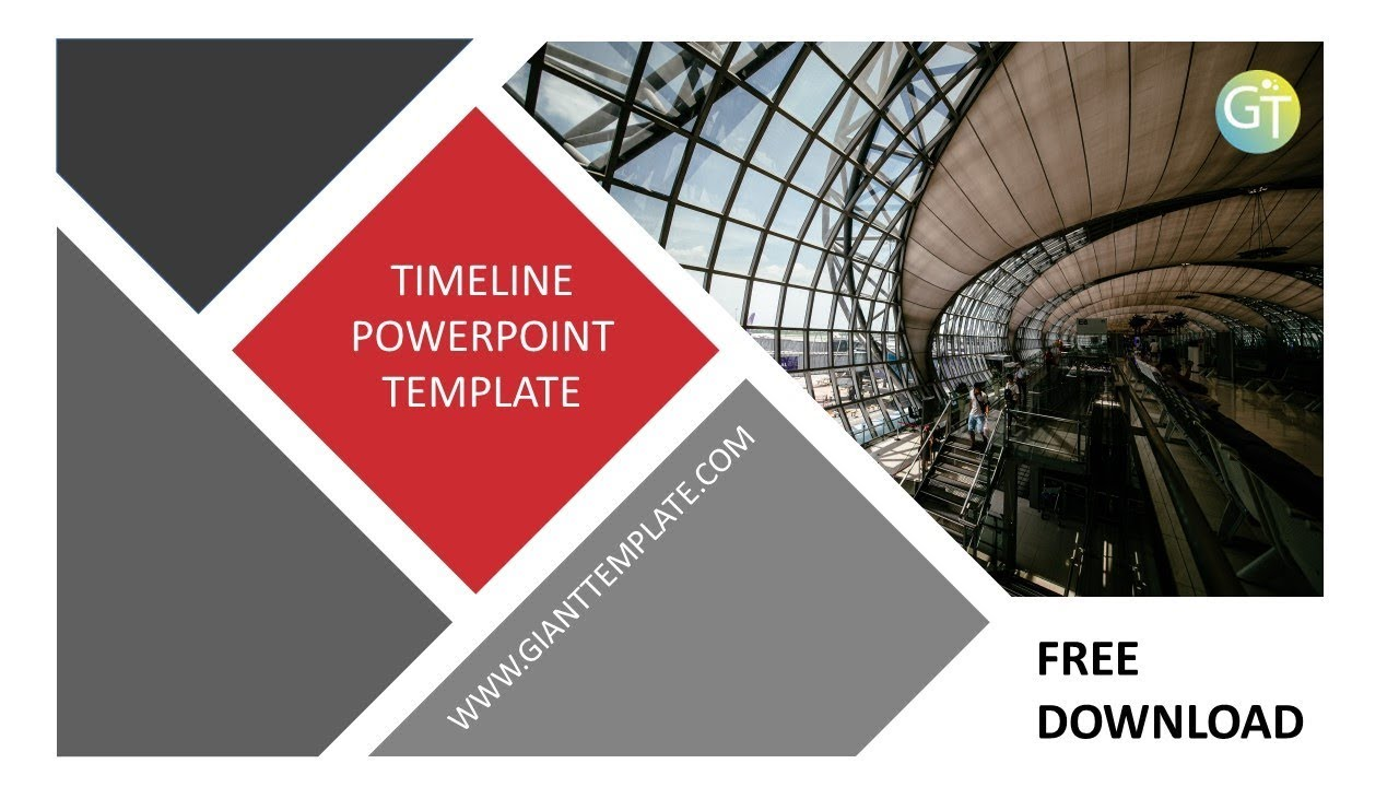 Timeline Powerpoint Template Free Download 20 Slide Youtube