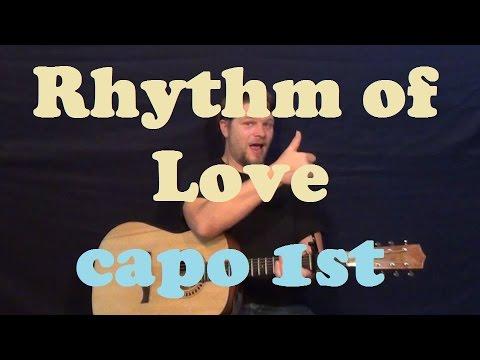 Rhythm of Love (Plain White T's) Easy Strum Guitar Lesson Chords Licks TAB How to Play Tutorial