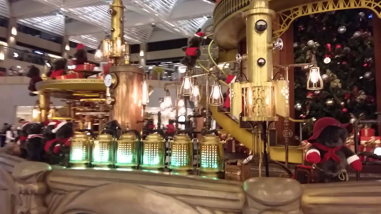 置地廣場聖誕燈飾2015 (聖誕許願裝置) (4) - YouTube