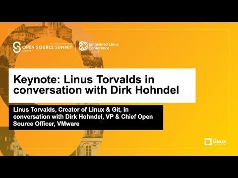 Keynote: Linus Torvalds in conversation with Dirk Hohndel