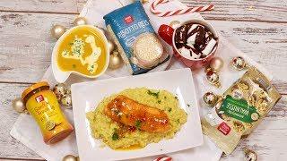 3-Gänge Weihnachtsmenü - Lachs auf Risotto I Hot Chocolate I Süßkartoffel-Walnuss-Suppe