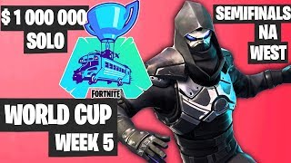 Fortnite World Cup Week 5 Highlights - Semifinal NA West Solo [Fortnite Tournament 2019]