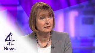 """Harriet Harman defends Labour's pink """"barbie bus""""   Channel 4 News"""