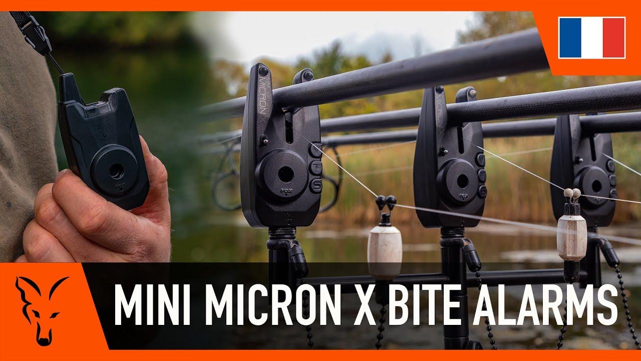 Fox Mini Micron x 3 Canne Présentation Lot Pêche à La Carpe Morsure Alarms CEI198