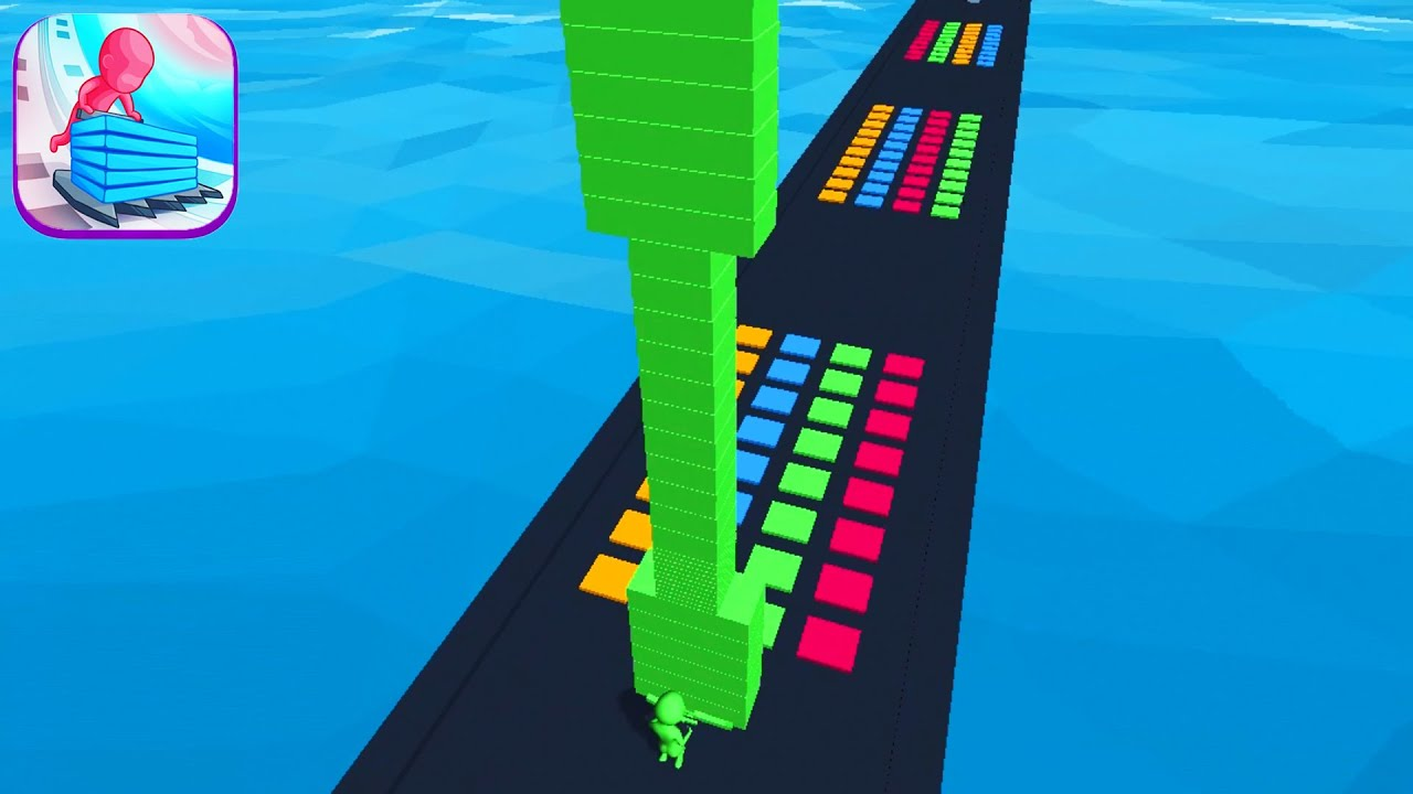 Download STACK COLORS! game MAX LEVEL 👸😱🌈 Gameplay All Levels Walkthrough iOS, Android New Game UpdateScore