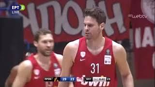 Προμηθέας Πατρών - Ολυμπιακός 77-80 13η αγ. Basket League - Στιγμιότυπα. (13/01/2019)