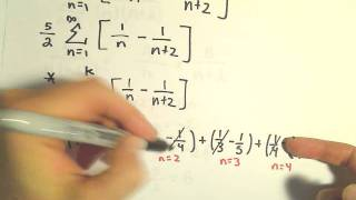 Telescoping Series , Finding the Sum, Example 1