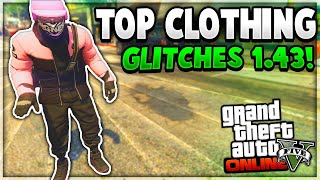 """GTA 5 Online *NEW* TOP BEST CLOTHING GLITCHES! """"After Patch 1.43"""" (Clothing Glitches 1.43)"""