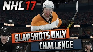 Can I Win a Game Taking Slapshots Only? (NHL 17 Challenge)