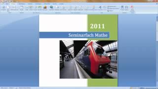 Word 2007 Formatgestaltung
