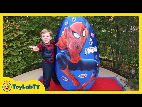 Giant Egg Surprise Opening! Huge Surprise Egg with Toys and Silly String, Fun Family Video for Kids
