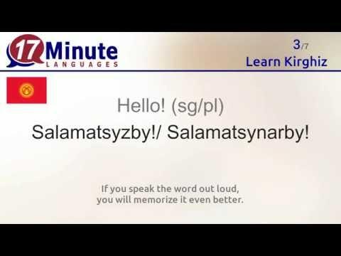 Learn Kirghiz (free language course video)