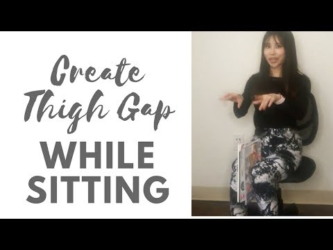 Create thigh gap while sitting | Simply keep holding a piece of paper between knees